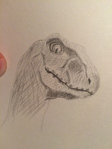 Raptor Head Sketch