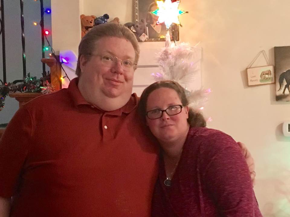 Me and my wife at Christmas 2016